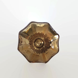 Gold Mercury Glass Cabinet Knobs Dresser Drawer Pulls (s)-Dwyer Home Collection