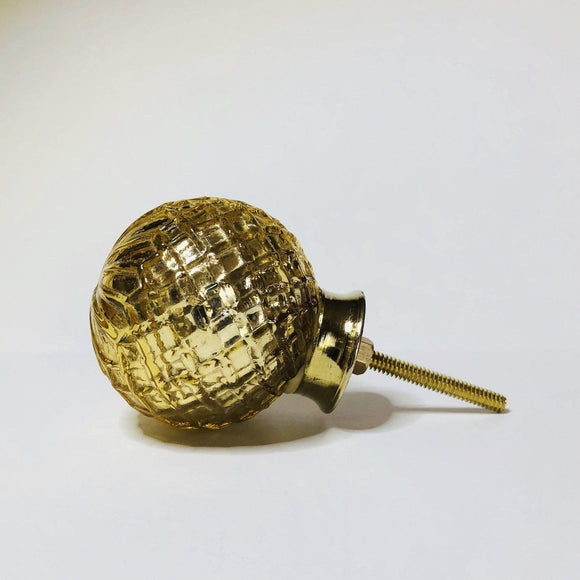 Antiqued Gold Mercury Cabinet Knobs Drawer Pulls Large Textured 2 Inch-Dwyer Home Collection
