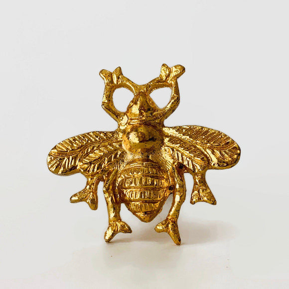 Golden Honey Bee Cabinet Knobs Decorative Dresser Drawer Pulls-Dwyer Home Collection