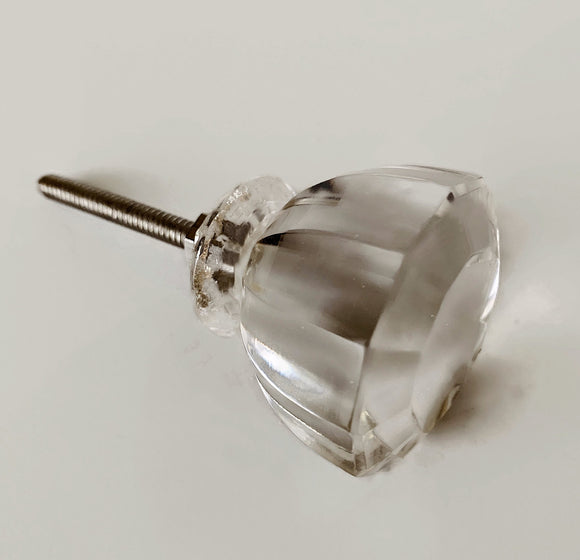 Antique Vintage Modern Clear Cabinet Knobs Dresser Drawer Pulls Three Sizes-Dwyer Home Collection