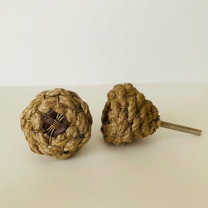 Jute Rope Cabinet Knobs Coastal-Dwyer Home Collection