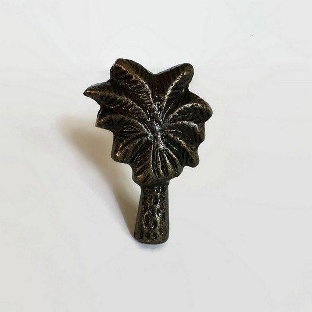 Palm Tree Cabinet Knobs Furniture Drawer Pulls Cast Iron