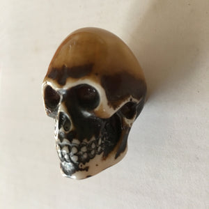 Skull Head Goth Punk Bone Cabinet Knobs Dresser Drawer Pulls-Dwyer Home Collection
