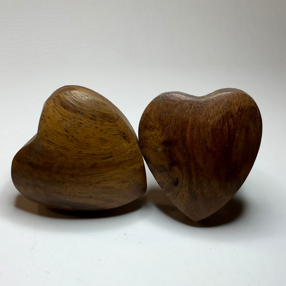 Wooden Heart Cabinet Knobs Rustic For Drawers Or Furniture 1.5 Inch-Dwyer Home Collection