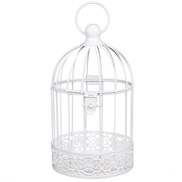 White Antique Style Bird Cage - Medium