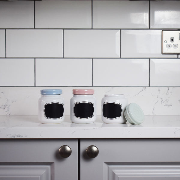 Chalkboard Style Storage Jars - Set of 3 Kitchen View