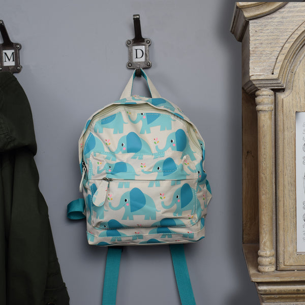 Children's Mini Backpack - Elephant Design on hook
