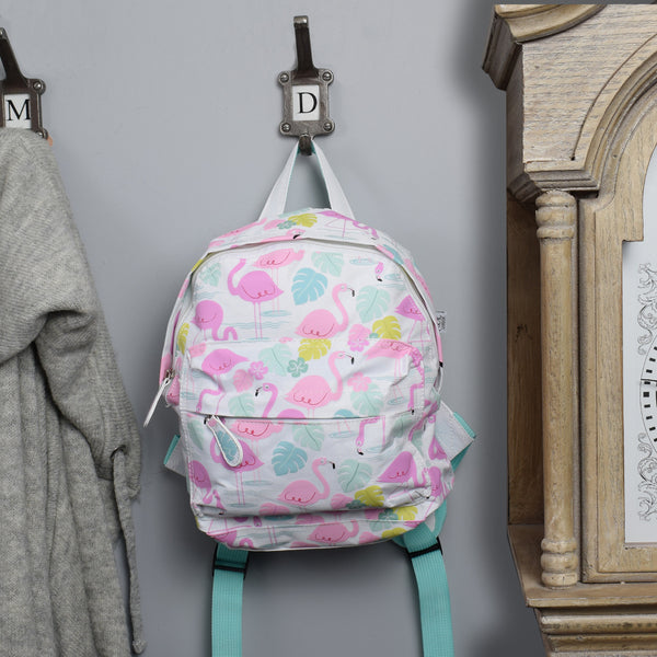 Children's Mini Backpack - Flamingo Design on hook