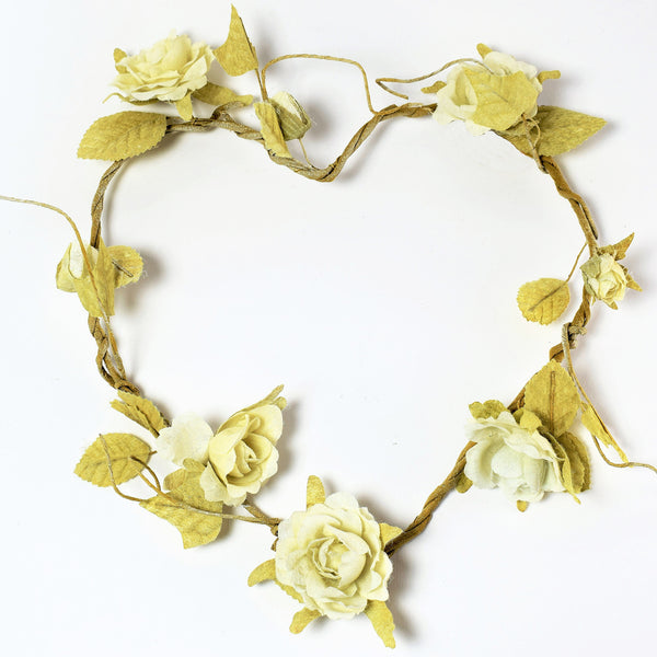 Cream Heart Shaped Rose Wreath