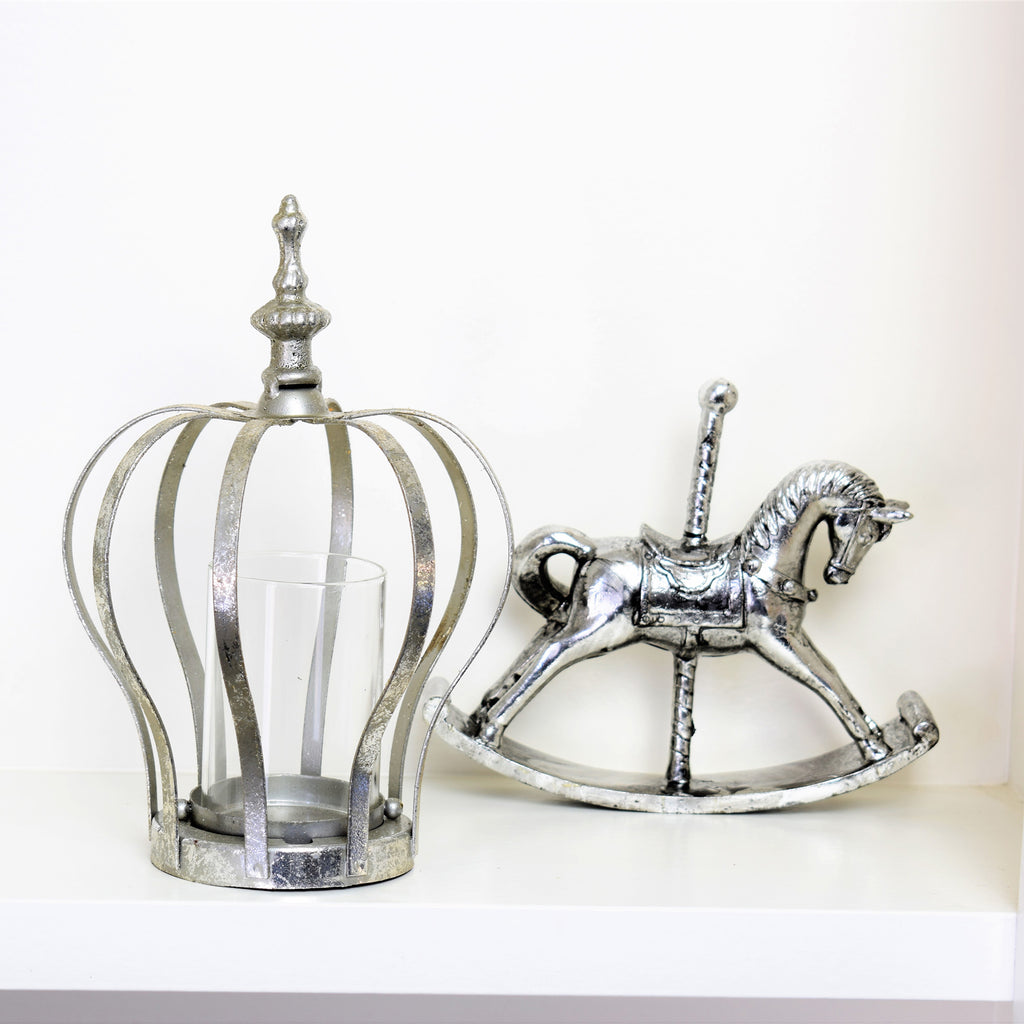 Silver Rocking Horse Ornament
