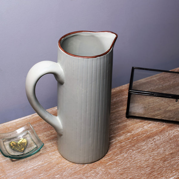 Display Jug / Vase in Sage Green / Grey