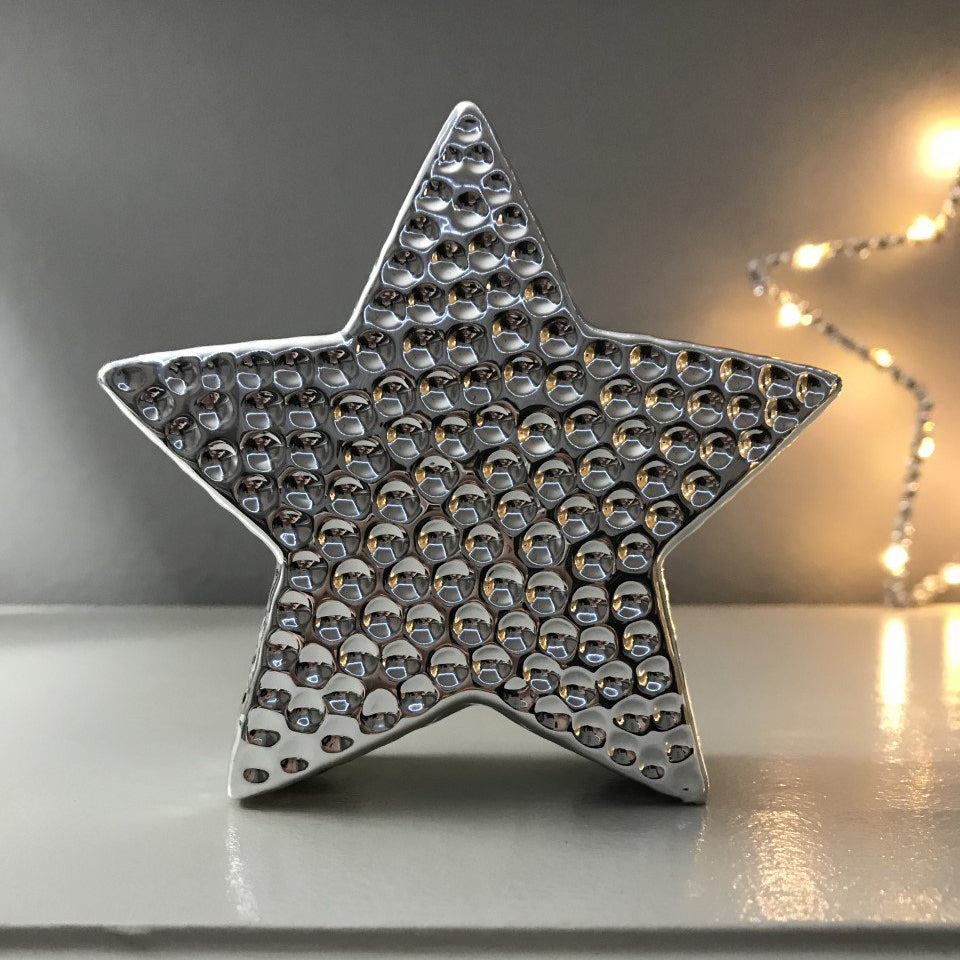 Hammered Silver Star