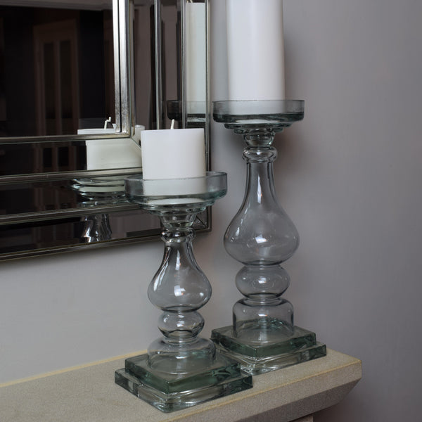 Glass Candle Holder - Large