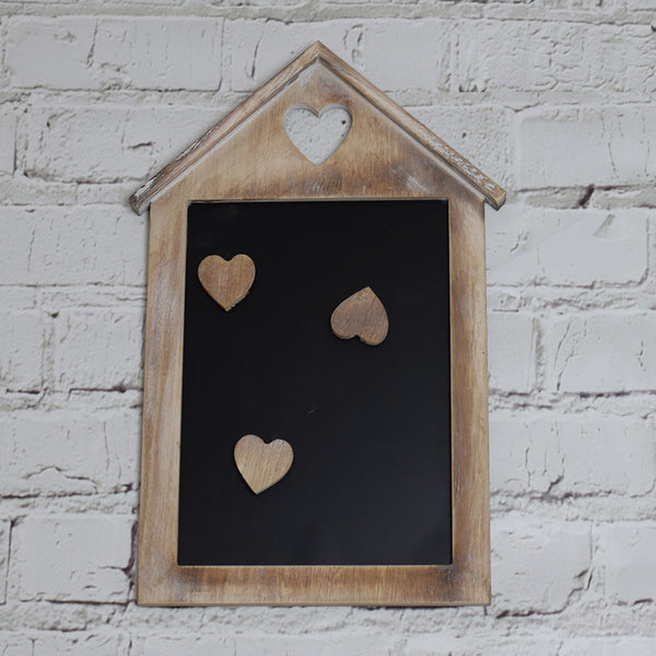 Limewash Blackboard with Magnetic Hearts