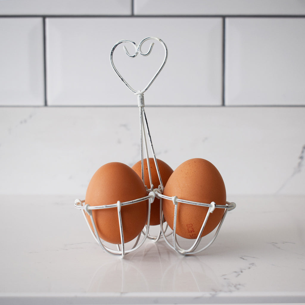 Metal Egg Holder - White