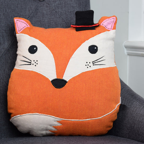 Mr Fox Cushion on chair