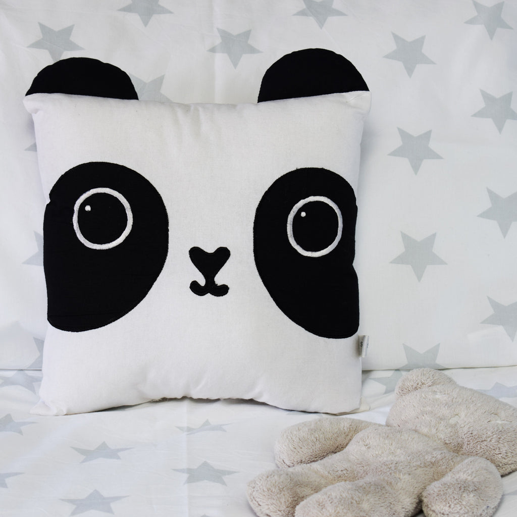 Panda Cushion on bed