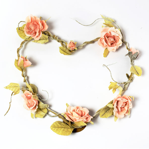 Pink Heart Shaped Rose Wreath