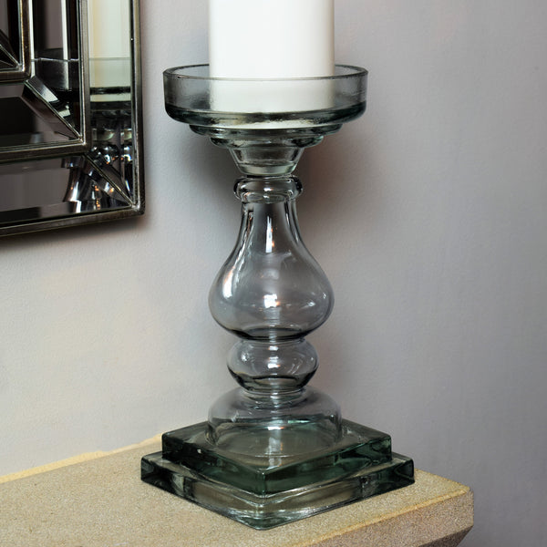Glass Candle Holder - Small