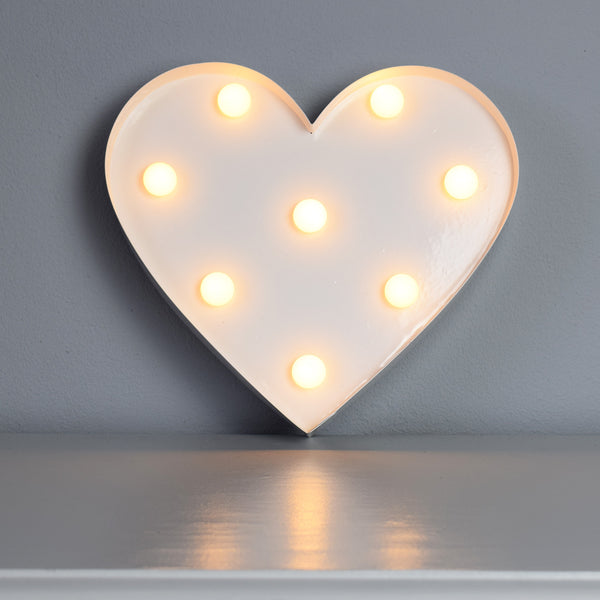 White LED Heart Wall Decoration