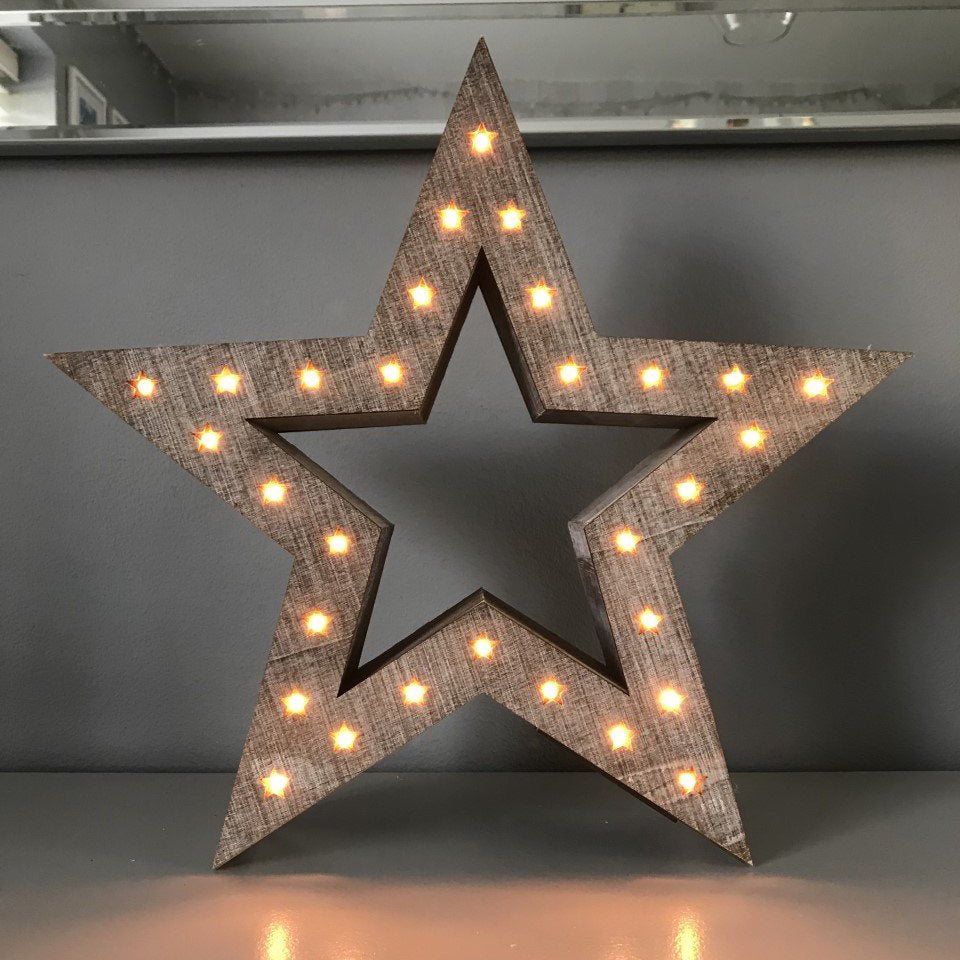 Wooden LED Freestanding Star