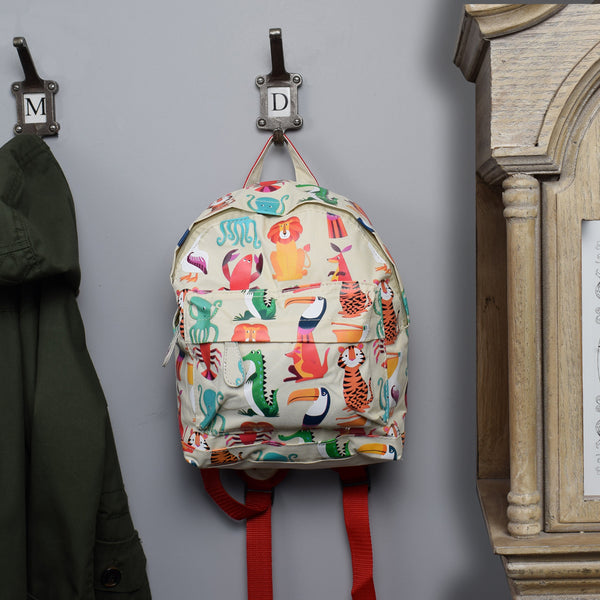 Children's Mini Backpack - Animal Design on hook