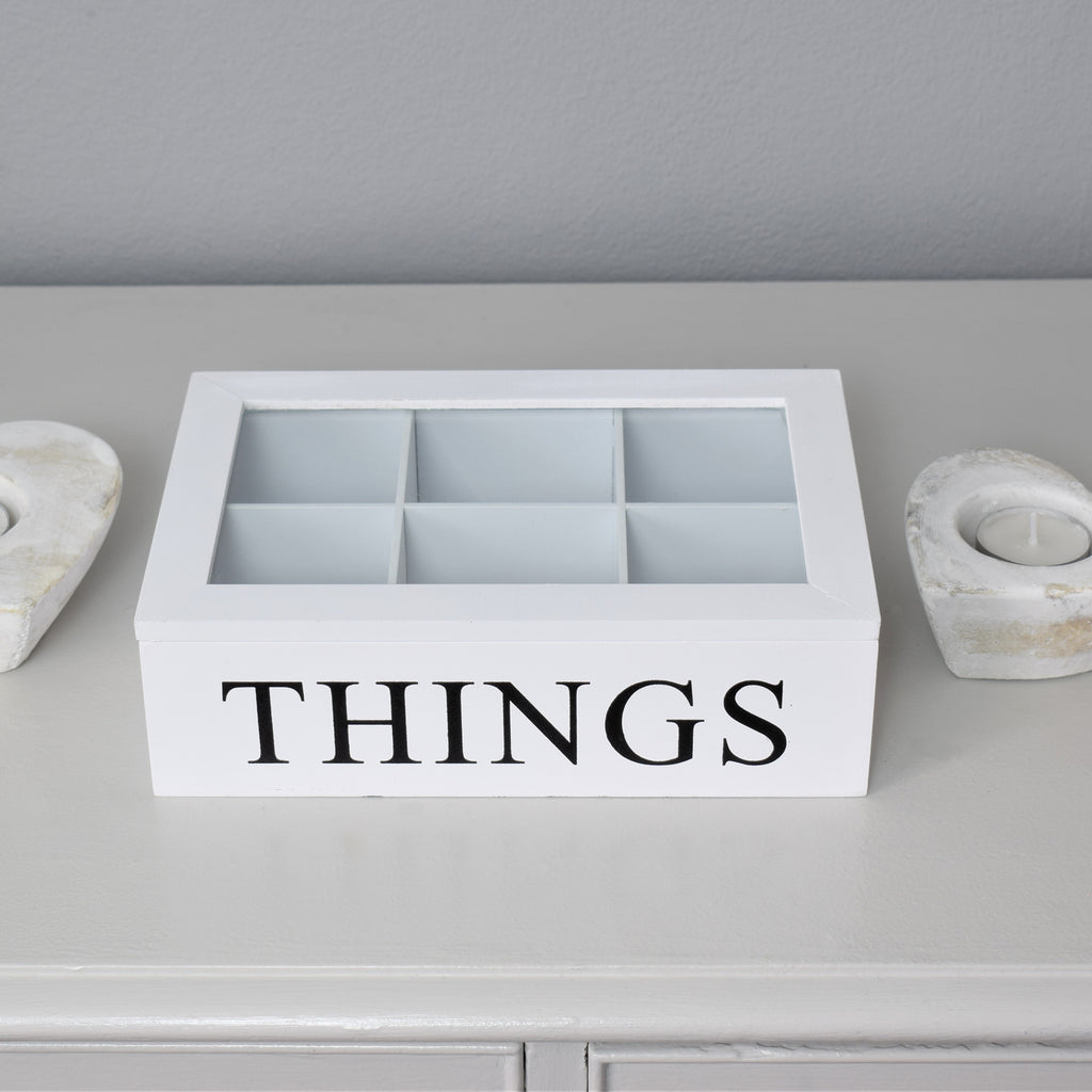 Things Storage Box with Glass Lid