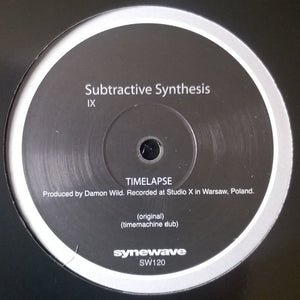 Subtractive Synthesis IX