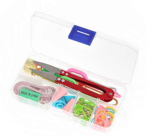 KNITTING TOOL SET IN CASE