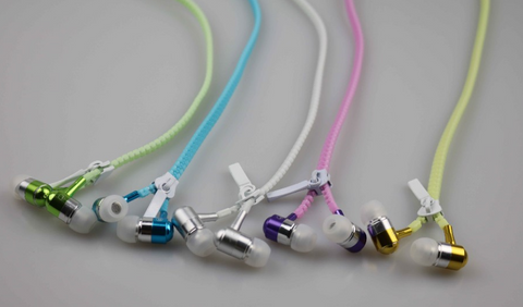 Glow in the dark Zipper Earphones