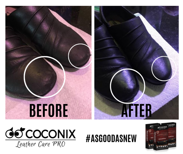 Customer Review - Coconix Professional Leather and Vinyl Repair Kit: WORKS GREAT ON LEATHER SHOES!
