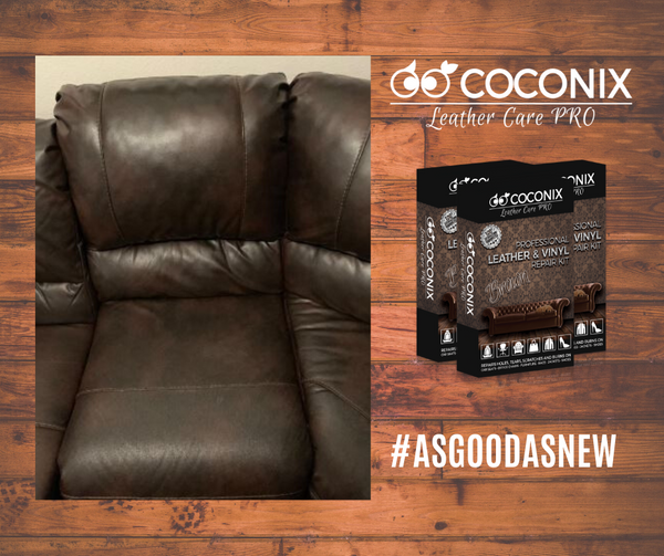 Customer Review - Coconix Professional Leather and Vinyl Repair Kit: A QUICK, EASY AND VERY AFFORDABLE WAY TO REPAIR A LEATHER COUCH!