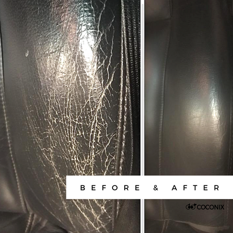 Leather Car Interior Before and After Coconix Repair