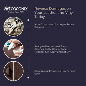 Coconix Middle Brown Leather and Vinyl Repair Kit - coconix