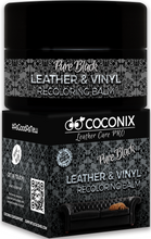 Load image into Gallery viewer, Coconix Leather & Vinyl Recoloring Balm - Pure Black