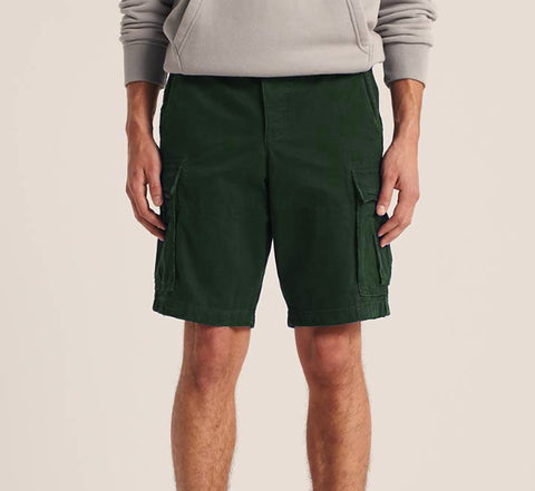 Bermudas con bolsillos Classic Fit bottle green