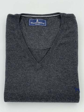 Charcoal grey cashmere jersey - Brackenbridge