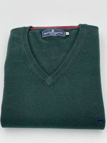 Bottle green cotton jersey