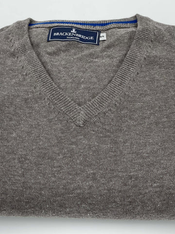 Stone grey cotton jersey