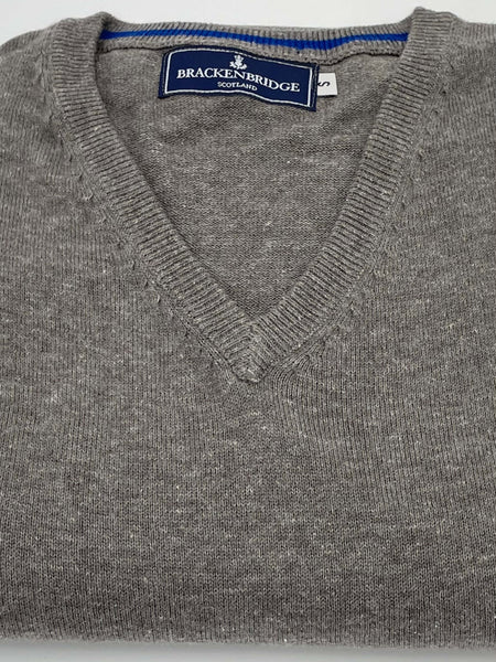 Stone grey cotton jersey - Brackenbridge