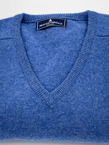 Royal blue lambswool jersey - Brackenbridge