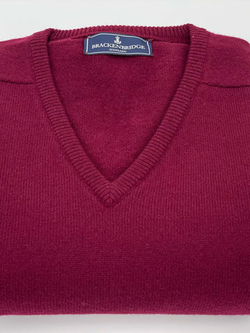 Bordeaux lambswool jersey - Brackenbridge