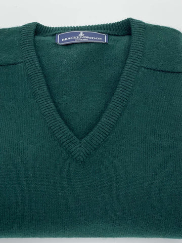 Bottle green lambswool jersey - Brackenbridge