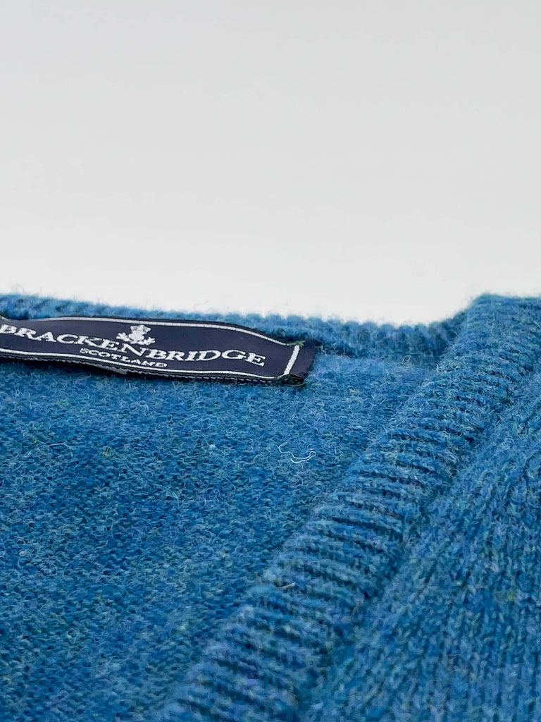 Windsor blue lambswool jersey - Brackenbridge