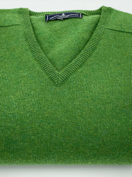Bright green lambswool jersey - Brackenbridge