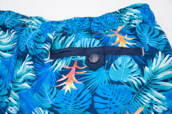 Bañador bermuda de estampado palms dodgerblue
