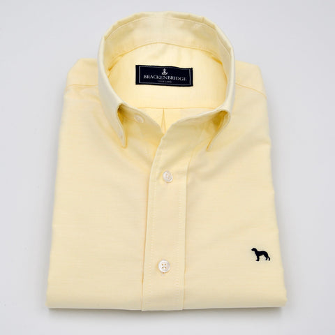 Camisa Oxford lisa amarillo - Brackenbridge