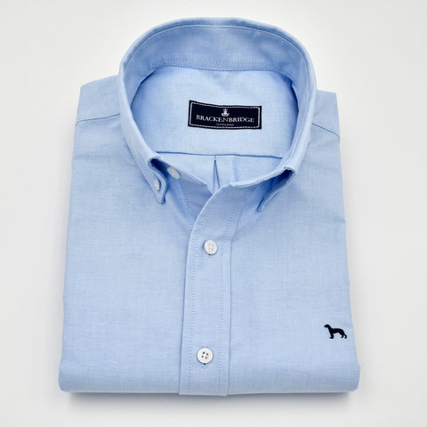 Camisa Oxford lisa azul - Brackenbridge