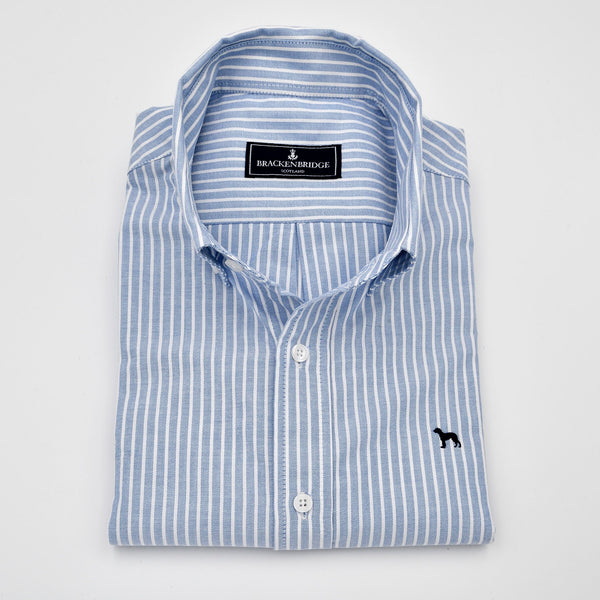 Camisa Oxford azul raya ancha - Brackenbridge