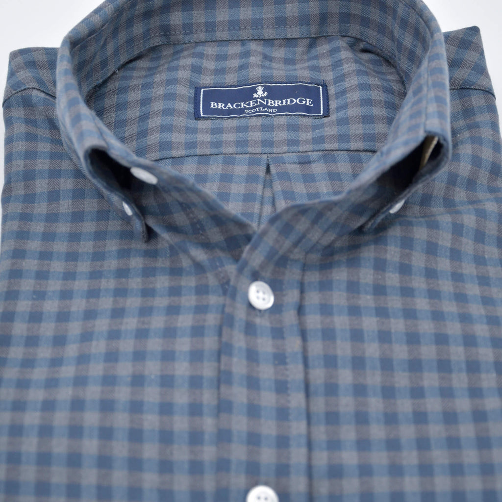 Camisa Gingham blue charcoal